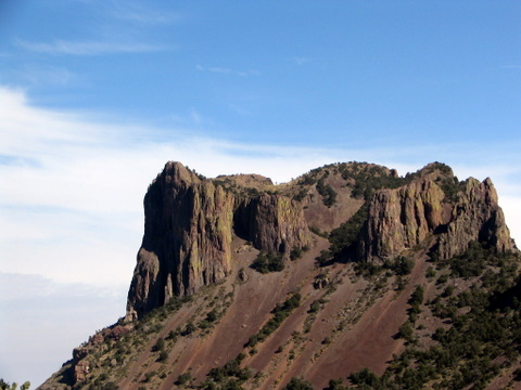 View of Casa Gradne on the Hike to Emory Peak