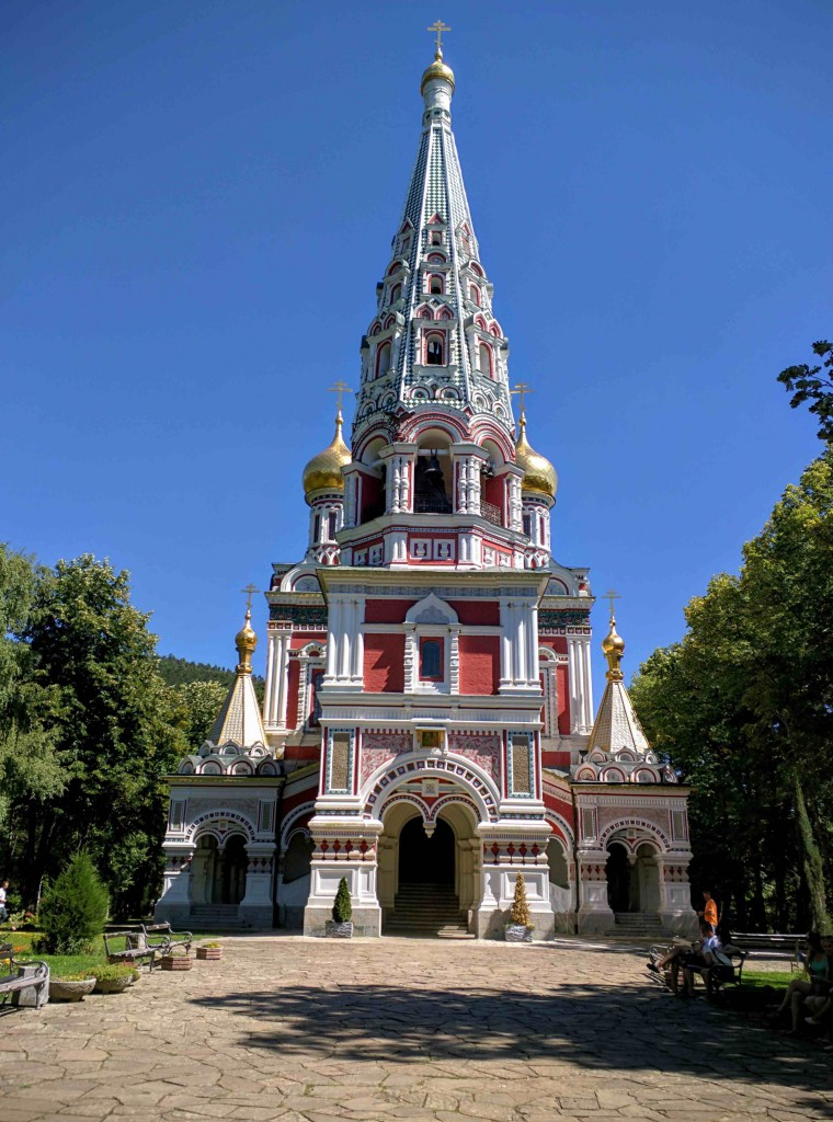 The front of the Shipka Memorial Church
